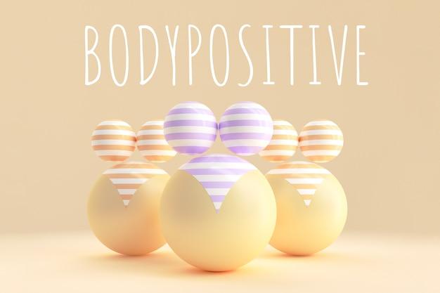 Grafika koncepcyjna na temat pozytywnego nastawienia do ciała.