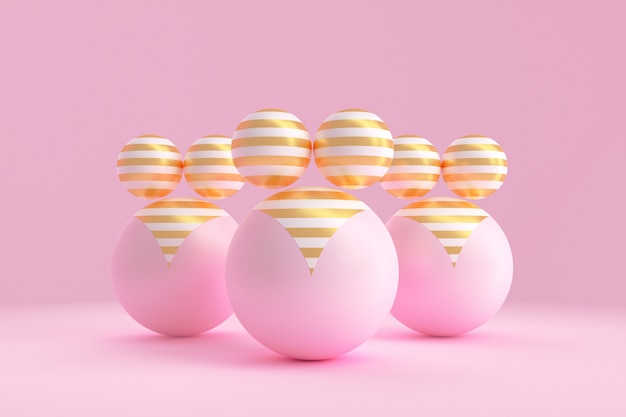 Grafika koncepcyjna na temat pozytywności ciała. ilustracja 3d