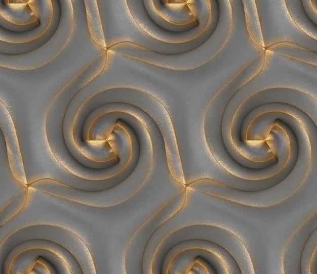 Grafika trójwymiarowa abstrakcyjnego wzoru