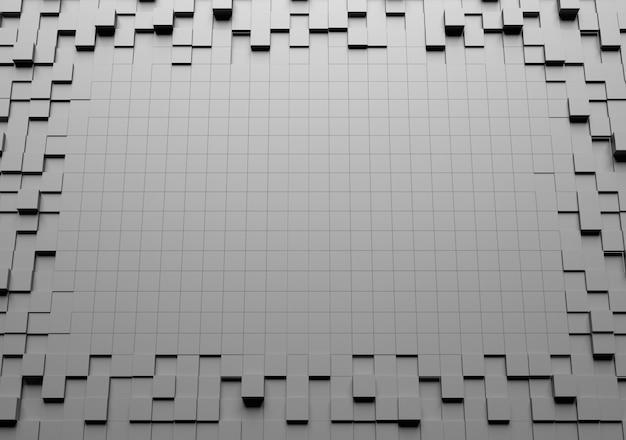 Grafika trójwymiarowa abstrakcyjnej mozaiki
