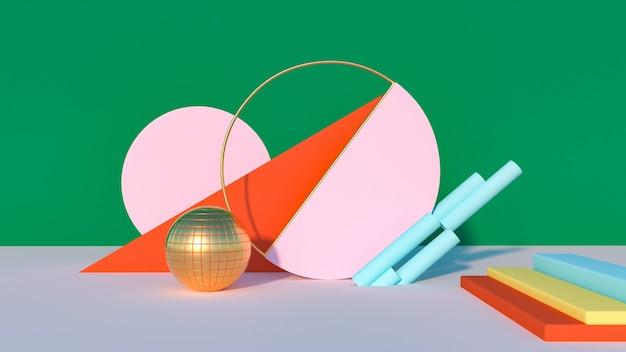 Grafika trójwymiarowa abstrakcyjnych geometrycznych
