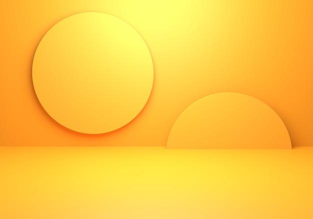 Grafika trójwymiarowa puste żółte pomarańczowe abstrakcyjne tło minimalne pojęcie