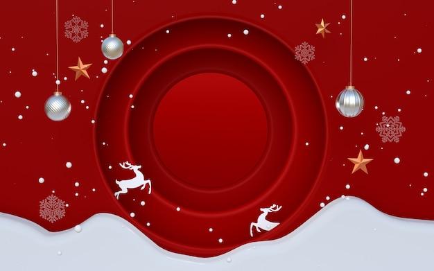 Grafika trójwymiarowa świąt bożego narodzenia