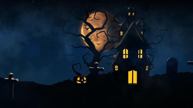 Grafika trójwymiarowa tło halloween
