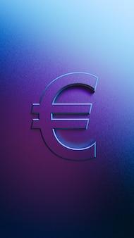 Grafika trójwymiarowa znaku euro