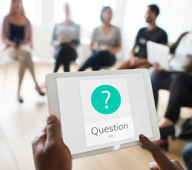 Grafika ze znakiem zapytania pytającym symbolem