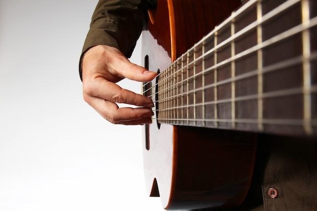 Graj prawą ręką na gitarze klasycznej