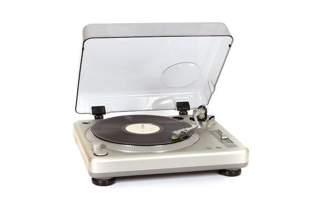 Gramofon na białej powierzchni