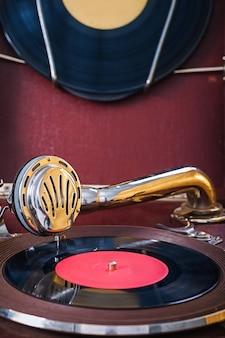 Gramofon z bliska widok