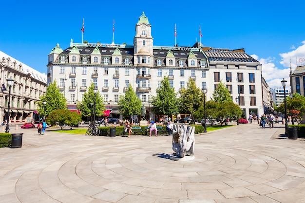 Grand hotel w oslo, norwegia.