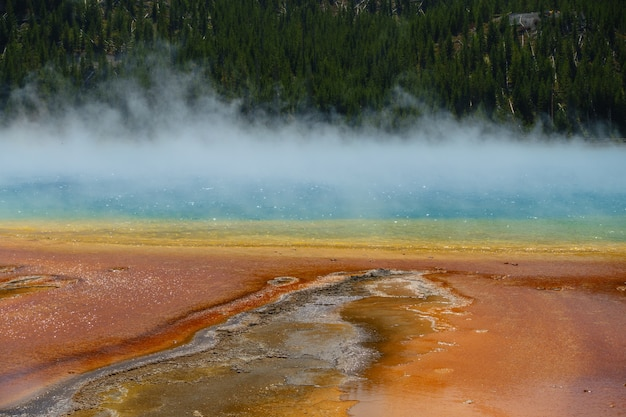 Grand prismatic springs, park narodowy yellowstone, wyoming