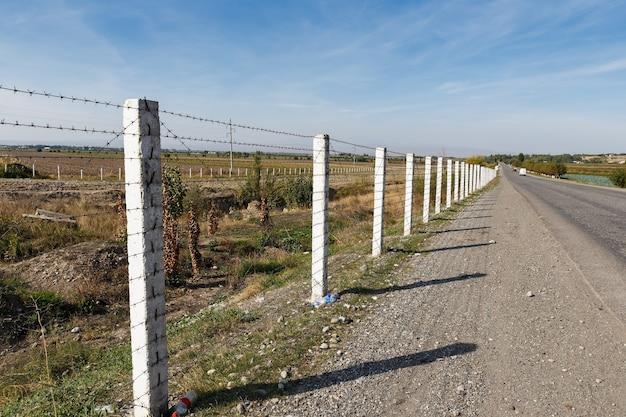 Granica między kirgistanem a uzbekistanem