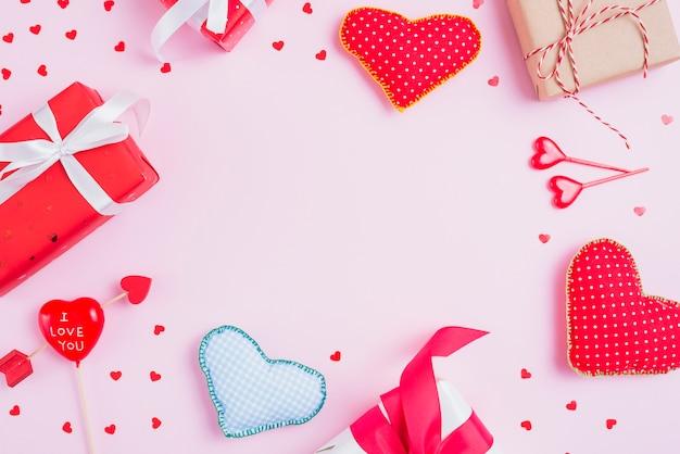 Granica od słodkich prezentów i serc