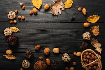Granica od symboli jesieni
