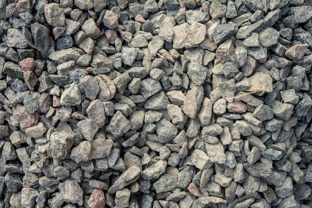 Granitowy żwir tekstury białe kamyki kamienne tło wzór koncepcji krajobrazu