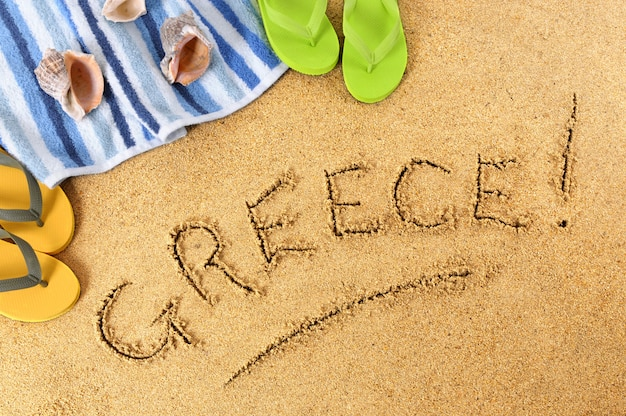 Grecja plażowy tło