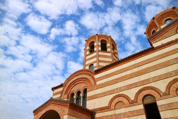 Grecki kościół prawosławny św. mikołaja, jeden z najstarszych kościołów miasta batumi w gruzji