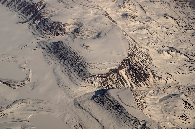 Grenlandia 11000 m npm widok z samolotu