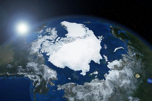 Grenlandia z kosmosu elementy tego obrazu zostały dostarczone przez nasa