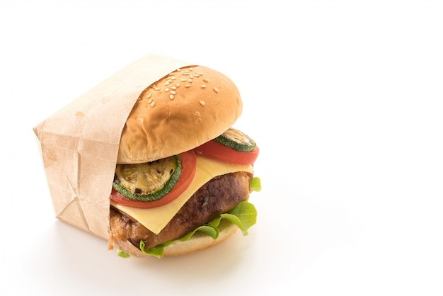 Grill kurczaka hamburger