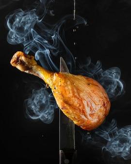 Grillowane mięso z kurczaka lub kaczki