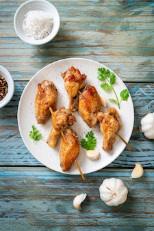 Grillowany kurczak z papryką i czosnkiem