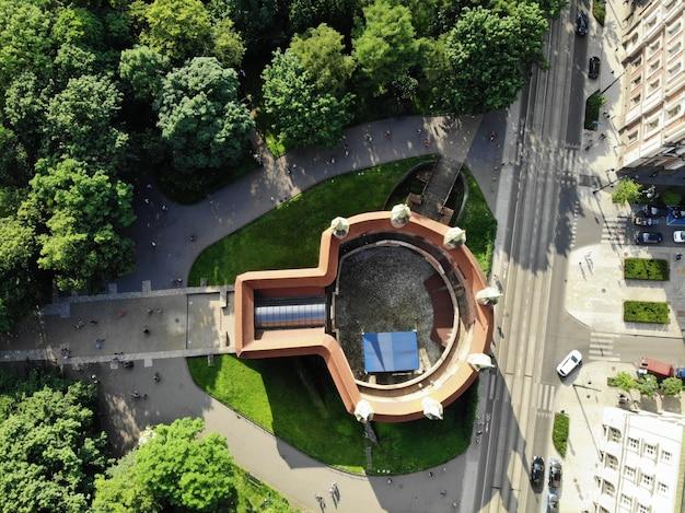 Gród zamku królewskiego na wawelu w krakowie, stolicy polski