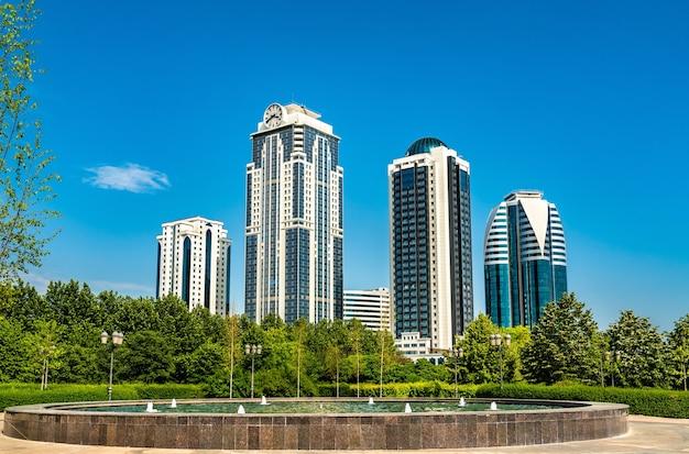 Grozny, Stolica Republiki Czeczeńskiej W Federacji Rosyjskiej Premium Zdjęcia