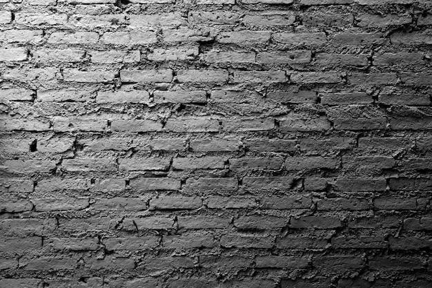 Grunge biały mur z cegły teksturowane tło