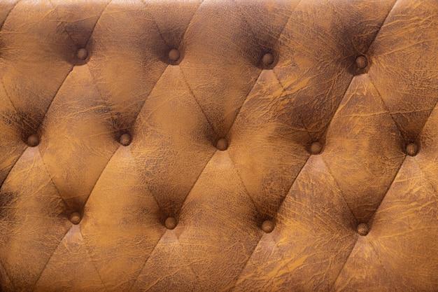 Grunge brown tapicerka ze sztucznej skóry z nitami