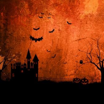 Grunge halloweenowy tło