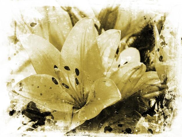 Grunge obrazu lillies
