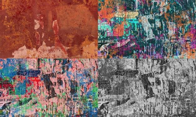 Grunge tekstury papieru plakat