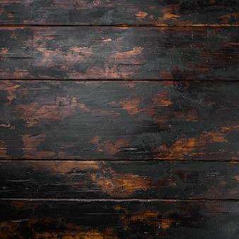 Grunge tekstury tła zestaw, format kwadratowy, widok z góry płasko leżał, z miejscem na kopię dla tekstu lub żywności stary ciemny drewniany stół tło
