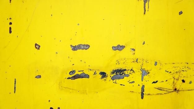 Grunge żółty ośniedziały metalu talerza tło
