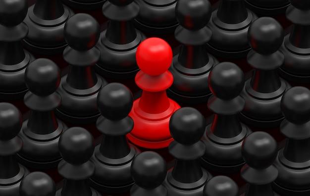 Grupa czerwona wśród czarnych serów