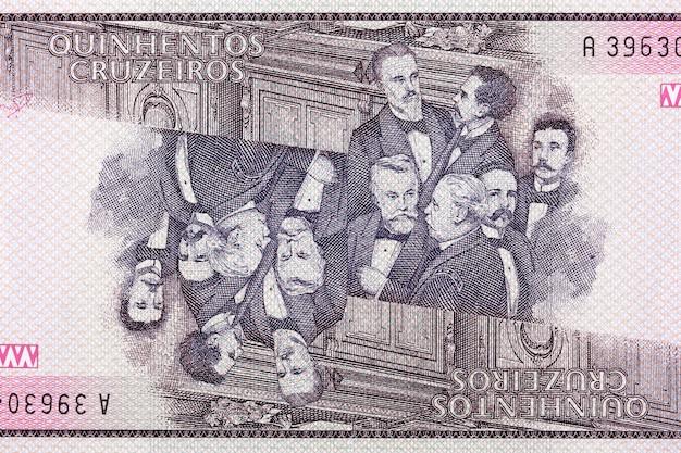 Grupa deputowanych ze starych brazylijskich pieniędzy