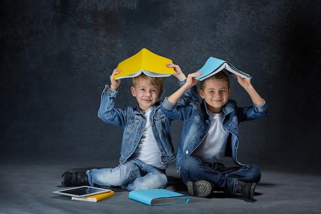 Grupa dzieci studio koncepcji