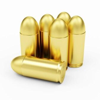 Grupa gun bullets na białym tle