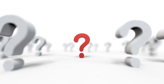 Grupa ikona znak zapytania na białym tle. ilustracja