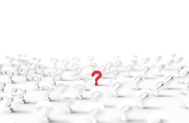 Grupa ikona znaku zapytania na białym tle. ilustracja.
