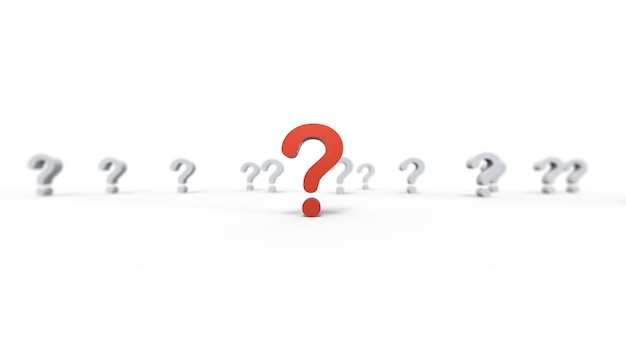 Grupa ikona znaku zapytania na białym tle.ilustracja.