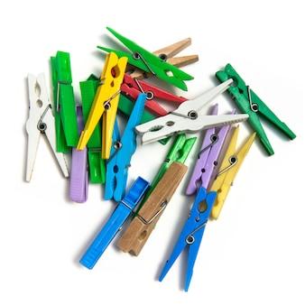 Grupa kolorowe clothespin.