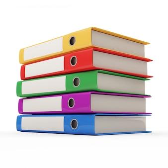 Grupa kolorowe foldery z dokumentami na białym tle