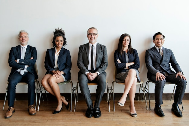 Grupa ludzi biznesu portret studyjny