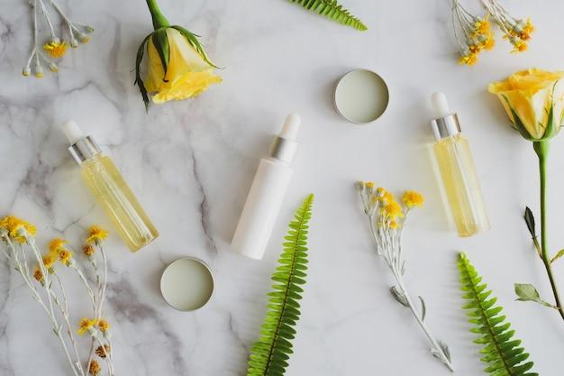 Grupa luksusowych naturalnych organicznych kosmetyków do pielęgnacji skóry.