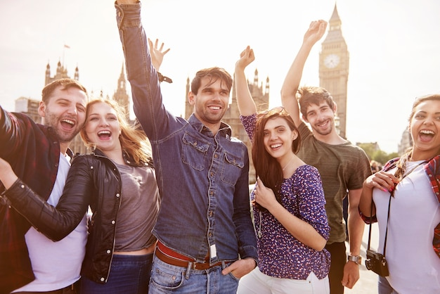 Grupa najlepszych przyjaciół w londynie