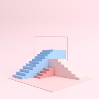 Grupa pastelowych schodów