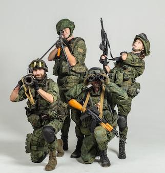 Grupa rosyjskich żołnierzy
