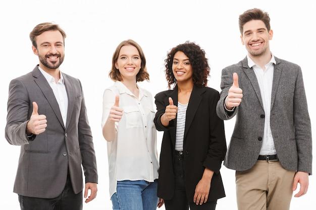 Grupa wielorasowych ludzi biznesu